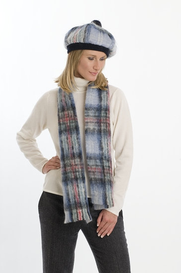 Diana Memorial Tartan Mohair Tam and Scarf Set