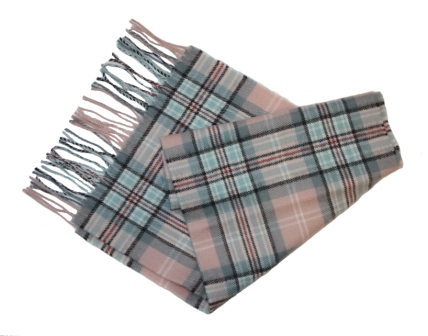 Diana Memorial Rose Tartan Lambswool Scarf